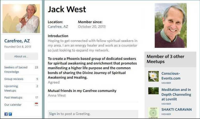 Rishi Devra, Devra West, Omniawakening.org, Jack West,  Carefree Arizona